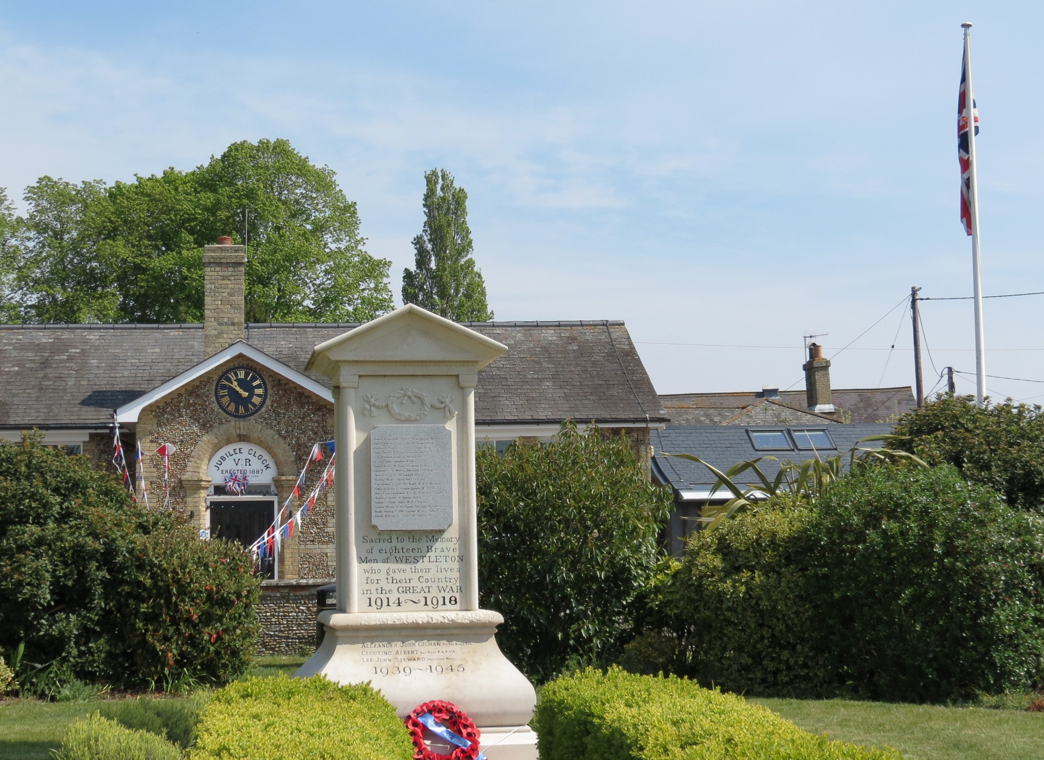 Westleton Village Hall also featuring War Memorial
